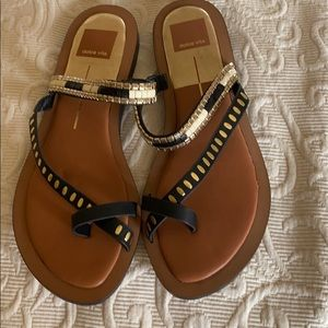 Dolce Vita slip in Sandals gold and brown